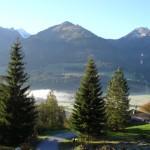 uitzicht vanuit chalet